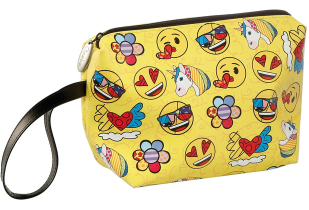 Goebel Kosmetiktasche Emoji® by BRITTO® - Summer Feelings 13,0 cm