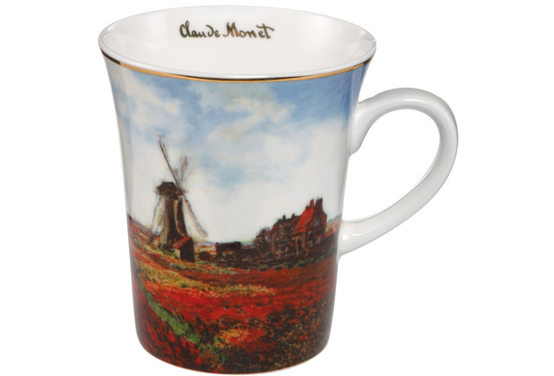 "Goebel Künstlertasse Claude Monet - \""Tulpenfeld\"" 11,0 cm"