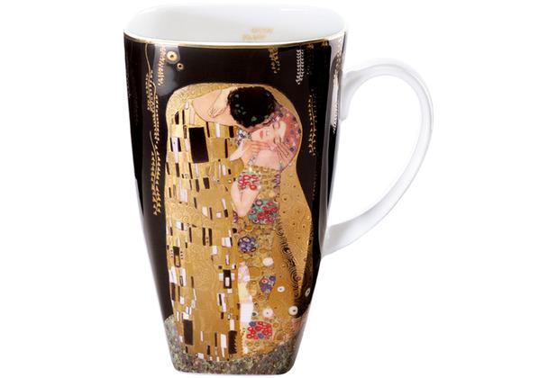 """Goebel Künstlertasse Gustav Klimt - \""""Der Kuss\"""" 14,0 cm"""
