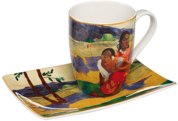 """Goebel Künstlertasse Paul Gauguin - \""""Wann heiratest Du?\"""" 12,0 cm"""
