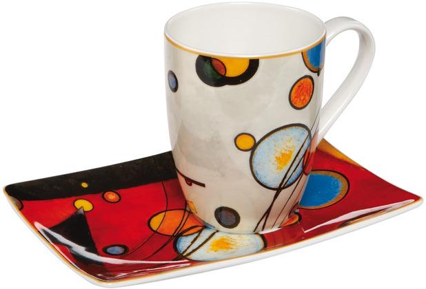 "Goebel Künstlertasse Wassily Kandinsky - \""Schweres Rot\"" 12,0 cm"