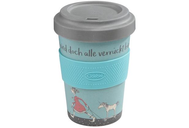 """Goebel Mug To Go Barbara Freundlieb - \""""Die sind doch alle verrückt\"""" 14,0 cm"""