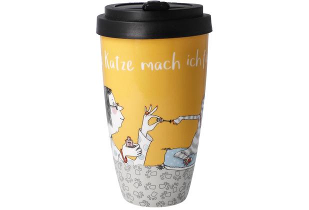 """Goebel Mug To Go Barbara Freundlieb - \""""Für meine Katze...\"""" 15,0 cm"""