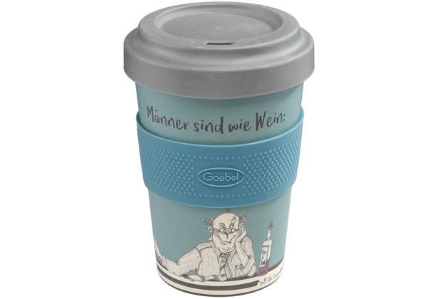 """Goebel Mug To Go Barbara Freundlieb - \""""Männer sind wie Wein\"""" 14,0 cm"""