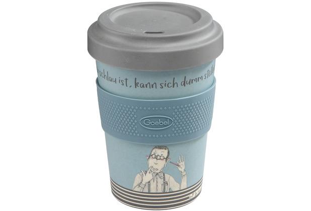 """Goebel Mug To Go Barbara Freundlieb - \""""Wer schlau ist\"""" 14,0 cm"""