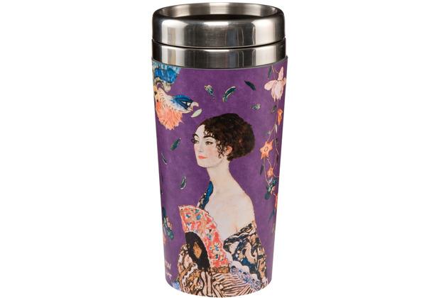 "Goebel Mug To Go Gustav Klimt - \""Dame mit Fächer\"" 17,5 cm"