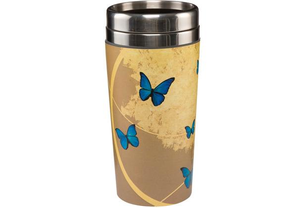 "Goebel Mug To Go Joanna Charlotte - \""Blue Butterflies\"" 17,5 cm"