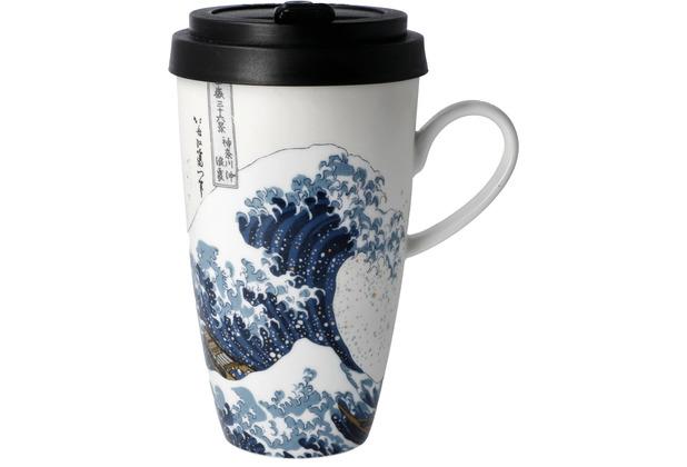 "Goebel Mug To Go Katsushika Hokusai - \""Die große Welle\"" 15,0 cm"