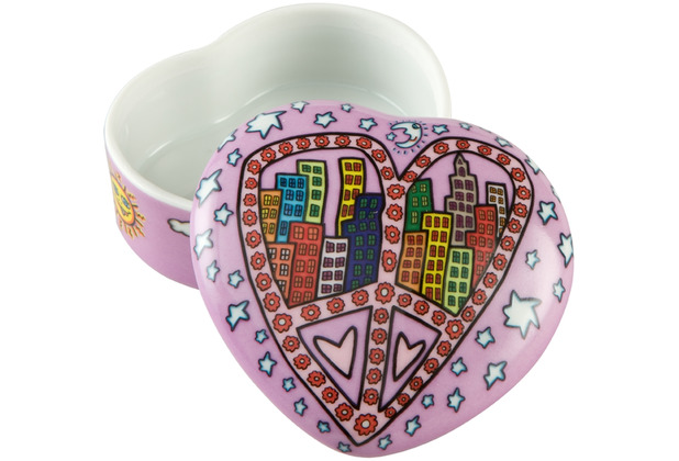 "Goebel Dose James Rizzi - ""Peace And Love in My City\"" 4,0 cm"