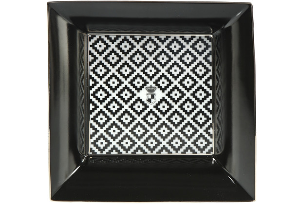 "Goebel Schale Maja von Hohenzollern - Design \""Diamonds\"" 16,0 x 16,0 cm"