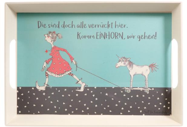Goebel Tablett Barbara Freundlieb - Die sind doch alle verrückt 50 x 35 x 5 cm