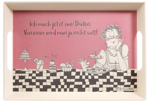 Goebel Tablett Barbara Freundlieb - Zwei Diäten 50 x 35 x 5 cm