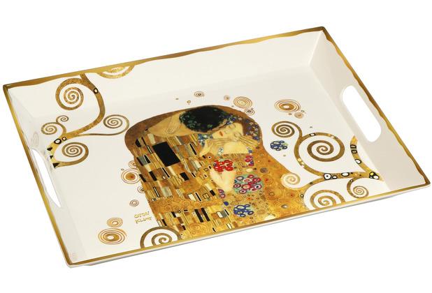 """Goebel Tablett Gustav Klimt - \""""Der Kuss\"""" 49 x 36 cm"""