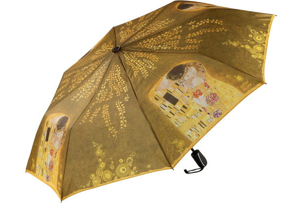 """Goebel Taschenschirm Gustav Klimt - \""""Der Kuss\"""" 98,0 cm"""