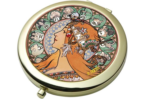 Goebel Taschenspiegel Alphonse Mucha - Sternzeichen 7,5 cm