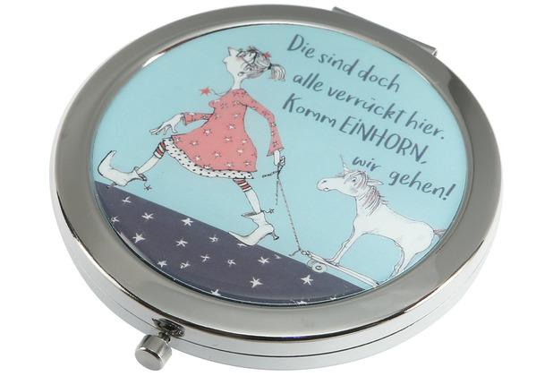 """Goebel Taschenspiegel Barbara Freundlieb - \""""Die sind doch alle verrückt\"""" 7,5 cm"""