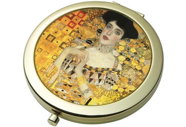 """Goebel Taschenspiegel Gustav Klimt - \""""Adele Bloch-Bauer\"""" 7,5 cm"""