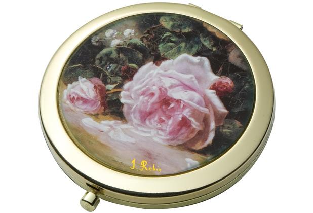 """Goebel Taschenspiegel Jean-Baptiste Robie - \""""Stillleben mit Rosen\"""" 7,5 cm"""