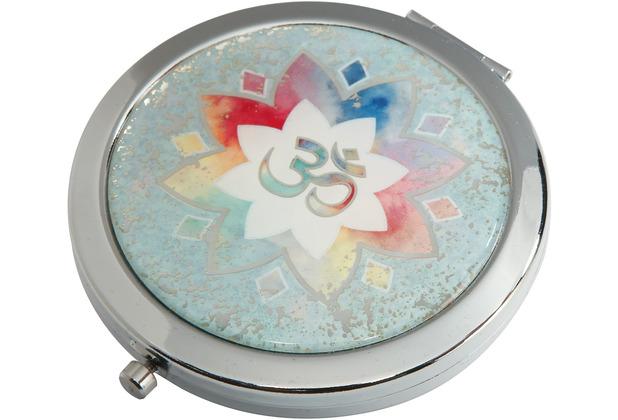 "Goebel Taschenspiegel Lotus - \""Om grün\"" 7,5 cm"