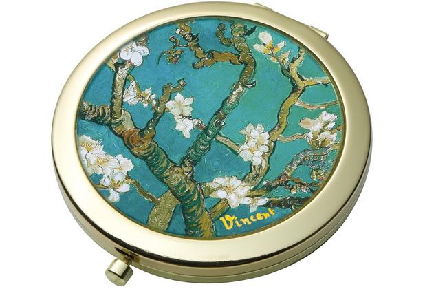 "Goebel Taschenspiegel Vincent van Gogh - \""Mandelbaum blau\"" 7,5 cm"