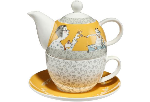 Goebel Tea for One Barbara Freundlieb - Für meine Katze 15,5 cm
