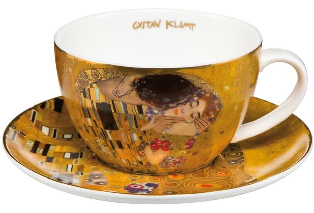 """Goebel Tee-/ Cappuccinotasse Gustav Klimt - \""""Der Kuss\"""" 6,5 cm"""