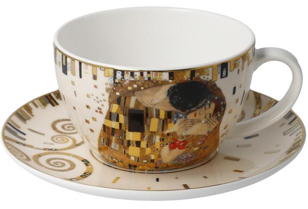 """Goebel Tee-/ Cappuccinotasse Gustav Klimt - \""""Der Kuss\"""" 7,0 cm"""