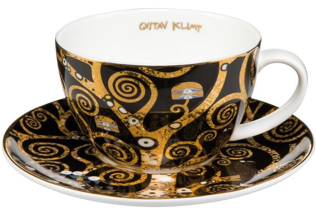 """Goebel Tee-/ Cappuccinotasse Gustav Klimt - \""""Der Lebensbaum\"""" 6,5 cm"""