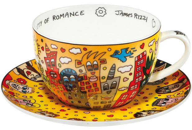 Goebel Tee-/ Cappuccinotasse James Rizzi - City of Romance 8,5 cm