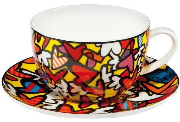 "Goebel Tee-/ Cappuccinotasse Romero Britto - \""Hearts\"" 8,5 cm"