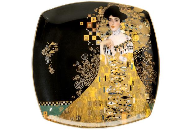 """Goebel Teller Gustav Klimt - \""""Adele Bloch-Bauer\"""" 21 x 21 cm"""