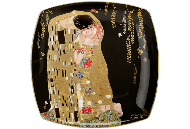 """Goebel Teller Gustav Klimt - \""""Der Kuss\"""" 21 x 21 cm"""