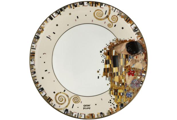 """Goebel Teller Gustav Klimt - \""""Der Kuss\"""" ø23 cm"""