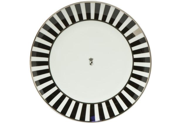 "Goebel Teller Maja von Hohenzollern - Design \""Stripes\"" 23,0 cm"