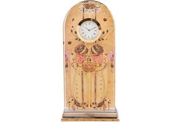 """Goebel Tischuhr Charles Rennie Mackintosh - \""""Zusammenkunft\"""" 11,0 x 23,0 cm"""
