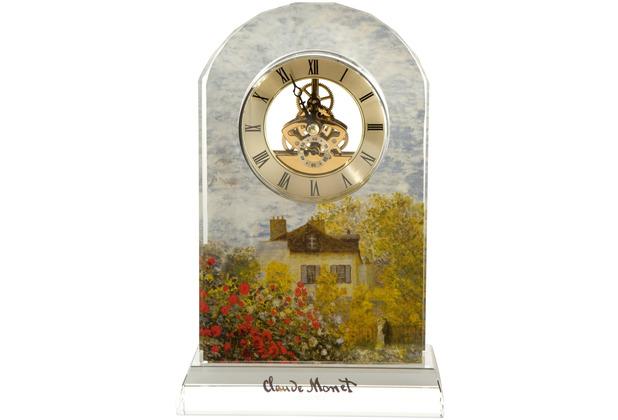"""Goebel Tischuhr Claude Monet - \""""Das Künstlerhaus\"""" 15,0 x 23,0 cm"""