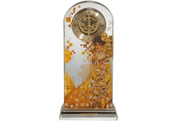 """Goebel Tischuhr Gustav Klimt - \""""Adele Bloch-Bauer\"""" 12,5 x 25,5 cm"""