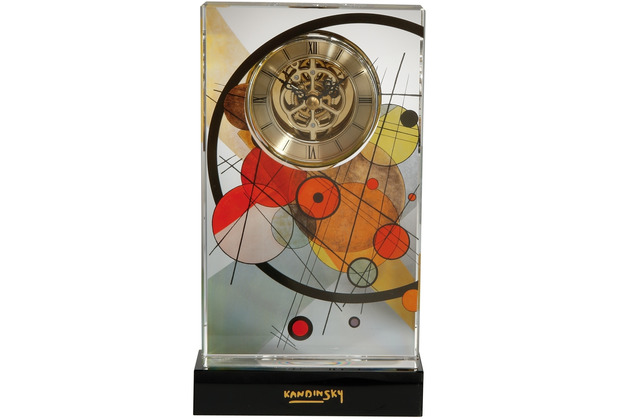 "Goebel Tischuhr Wassily Kandinsky - \""Kreise im Kreis\"" 12,5 x 22,0 cm"