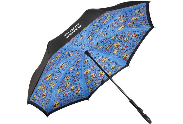 """Goebel Upside-Down Schirm Emoji® by BRITTO® - \""""Always happy\"""" 108,0 cm"""