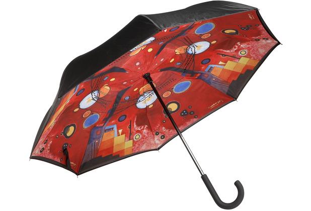 "Goebel Upside-Down Schirm Wassily Kandinski - \""Schweres Rot\"" 108,0 cm"