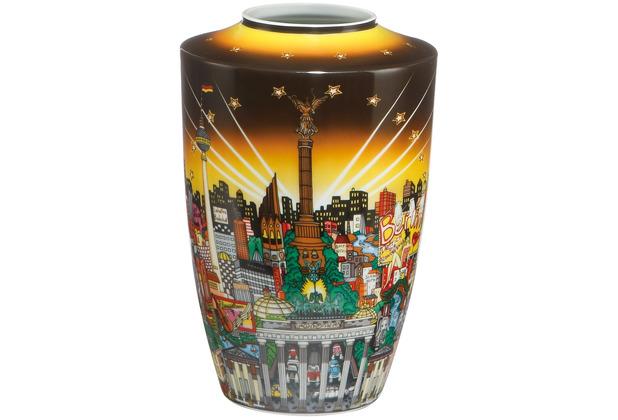 """Goebel Vase Charles Fazzino - \""""My Berlin, your Berlin\"""" 24,0 cm"""