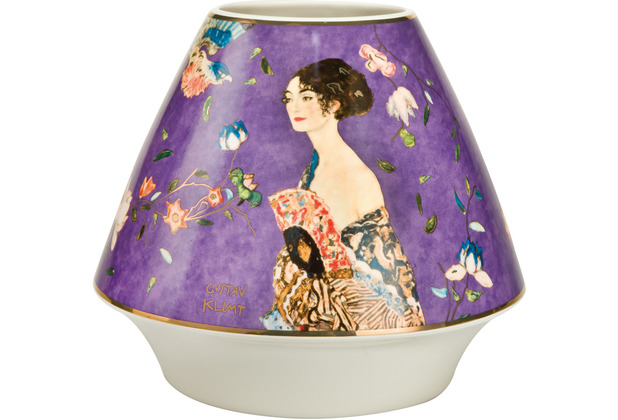 "Goebel Vase Gustav Klimt - \""Dame mit Fächer\"" 16,0 cm"