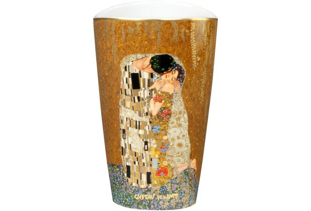 """Goebel Vase Gustav Klimt - \""""Der Kuss\"""" 19,0 cm"""