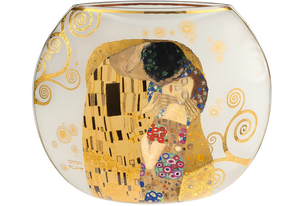 """Goebel Vase Gustav Klimt - \""""Der Kuss\"""" 22,0 cm"""
