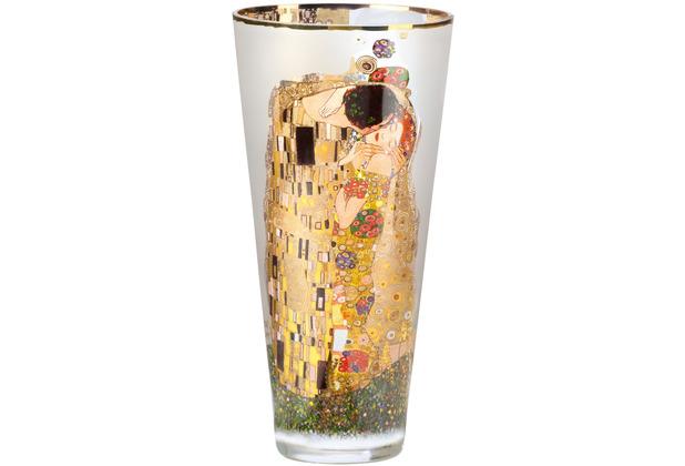 """Goebel Vase Gustav Klimt - \""""Der Kuss\"""" 30,0 cm"""