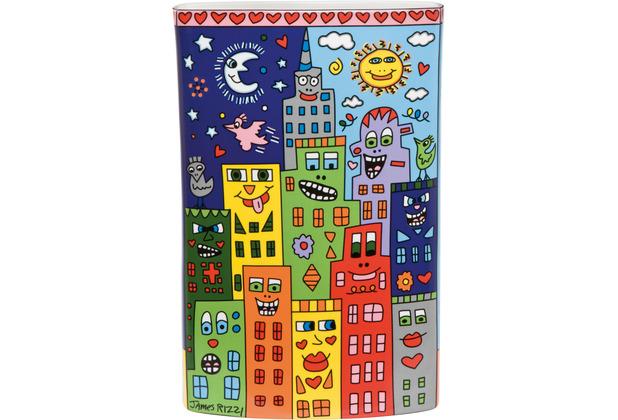 "Goebel Vase James Rizzi - \""It\'s Heart Not to Love My City\"" 30,0 cm"