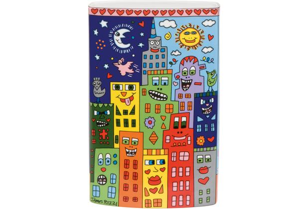 "Goebel Vase James Rizzi - \""Love in the Heart of the City\"" 20,0 cm"
