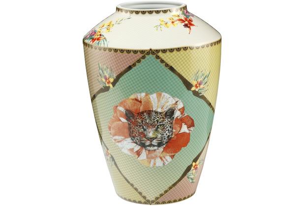 "Goebel Vase Elephant - \""Leopard Rot\"" 33,0 cm"
