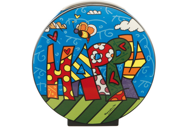 """Goebel Vase Romero Britto - \""""Happy\"""" 20,0 cm"""