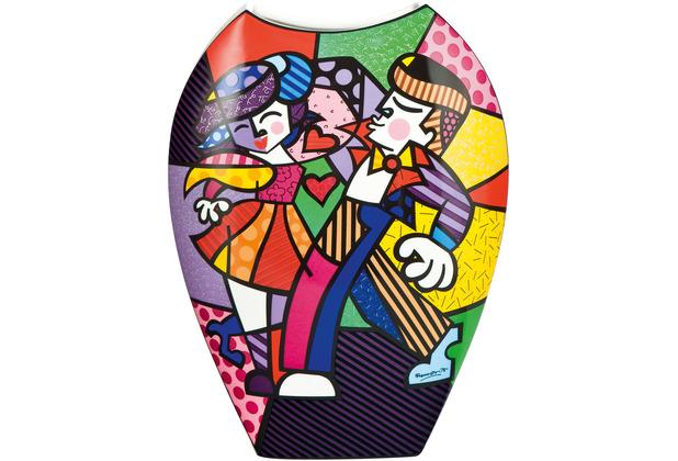 """Goebel Vase Romero Britto - \""""Swing\"""" 30,0 cm"""